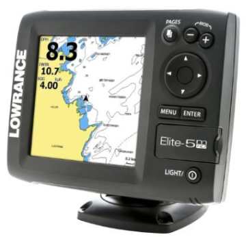 Lowrance Elite-5M HD Plotter with Navionics Gold U.S. Charts Marine GPS