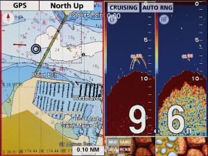 Furuno GP1670F Combination Marine GPS / Fishfinder / Chartplotter - display