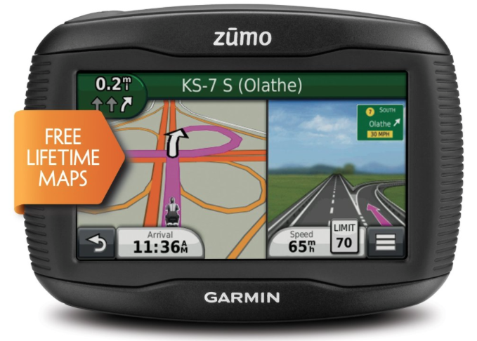 Garmin Zumo 390LM 4.3-Inch Motorcycle GPS Navigation device