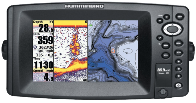 humminbird 859ci hd marine gps fishfinder review | gps headquarters, Fish Finder