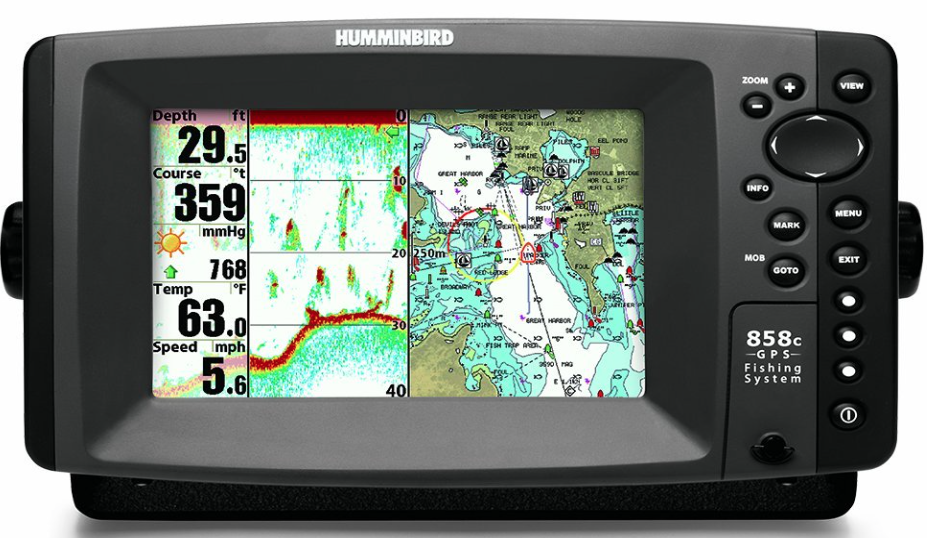 Humminbird 858c Combo marine GPS and chart plotter device